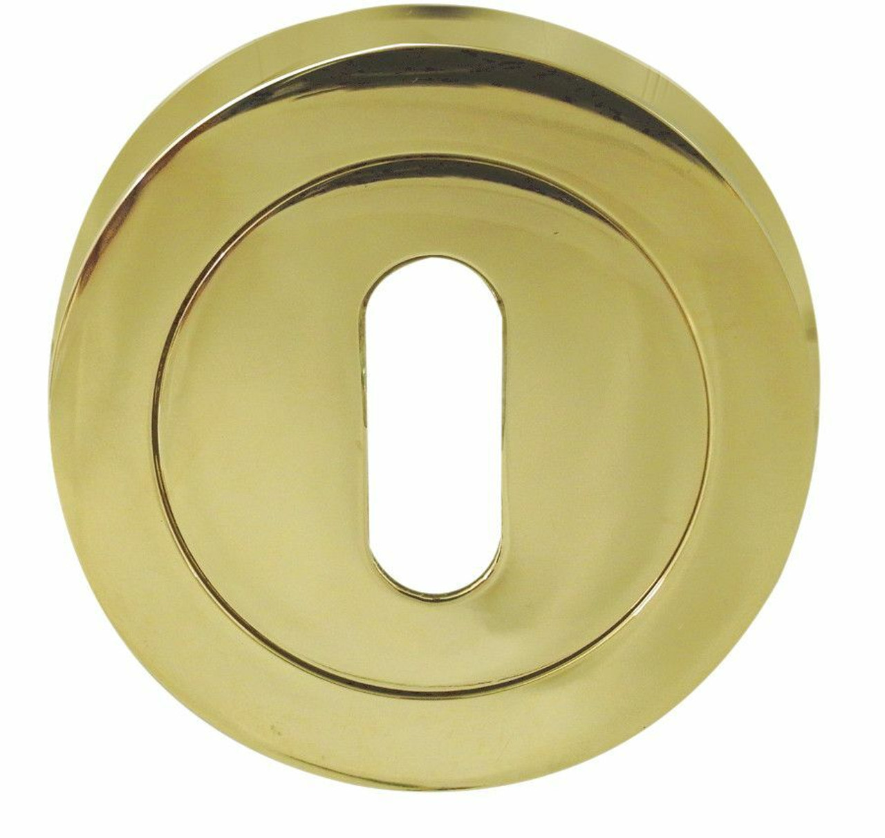 Picture of: Polished Brass Escutcheon Keyhole Cover 50mm Jv503pb