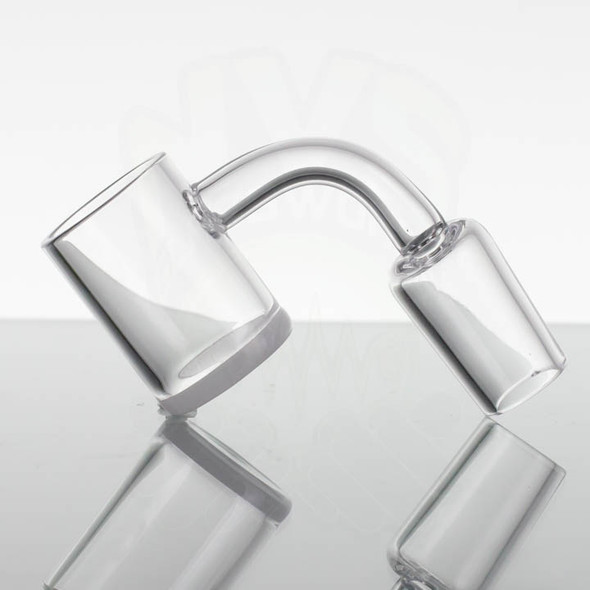 18mm Male White Opaque Bottom Banger 90 Degree Angle