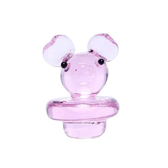 Pink Piggy Glass Carb Cap