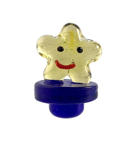 STAR GLASS CARB CAP - (HAPPY STAR )