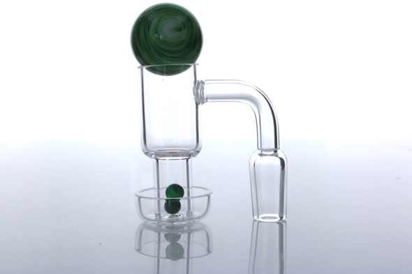 14mm Male/ Female 90/45 Degree Terp Slurper Banger Kit with Terp Pearls & Carb Cap