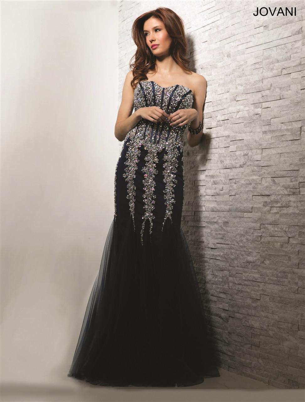 cadb22aa3124 Jovani 5908 - Strapless long dress