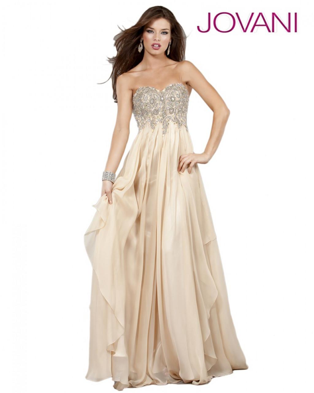 0b49187b45b Jovani 1560 - Strapless Long Dress