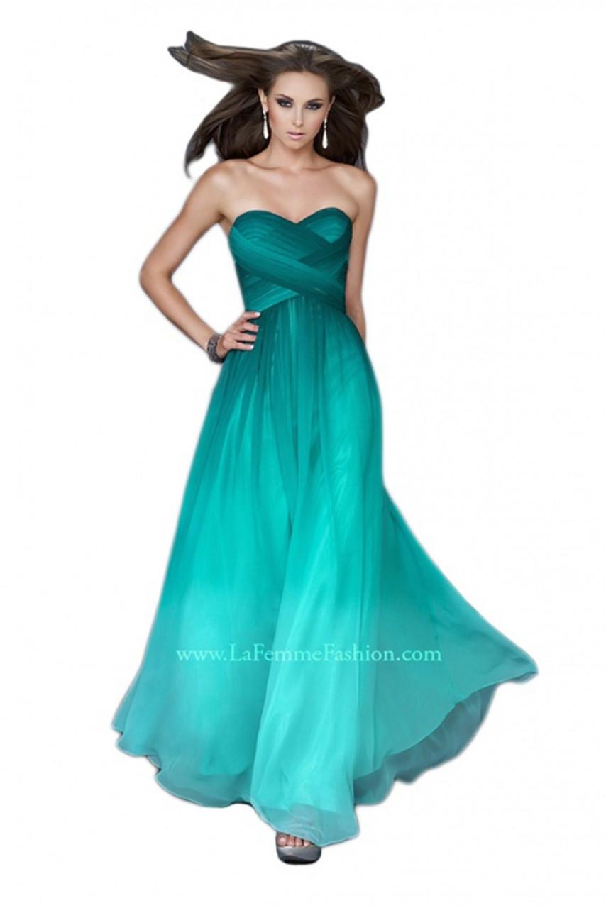 4a153551ce9 La Femme 18497 - Strapless Long Dress
