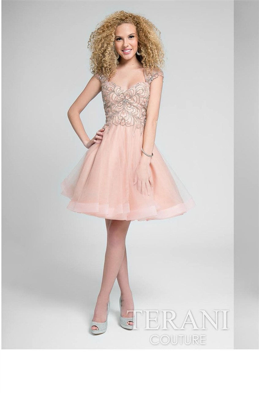 59ac0e4f409e Glamour By Terani Couture Two Piece Embellished Prom Dress Set