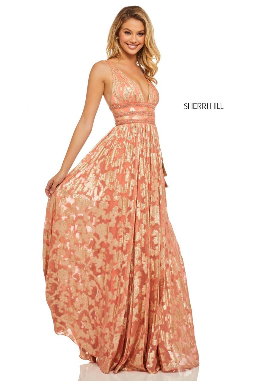 Sherri Hill Orange Dress