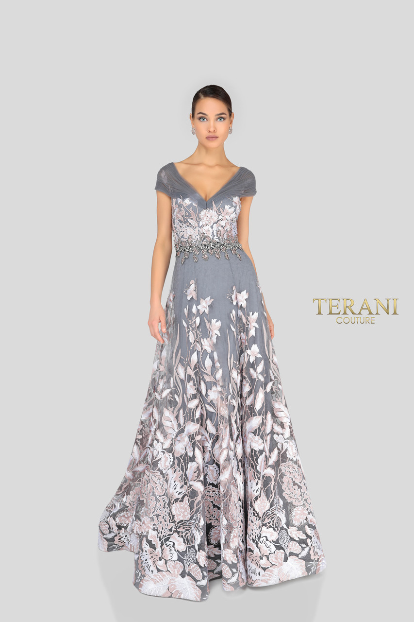 5292694820b Terani Couture Long Sleeve Beaded Bodice Ball Gown - Data Dynamic AG