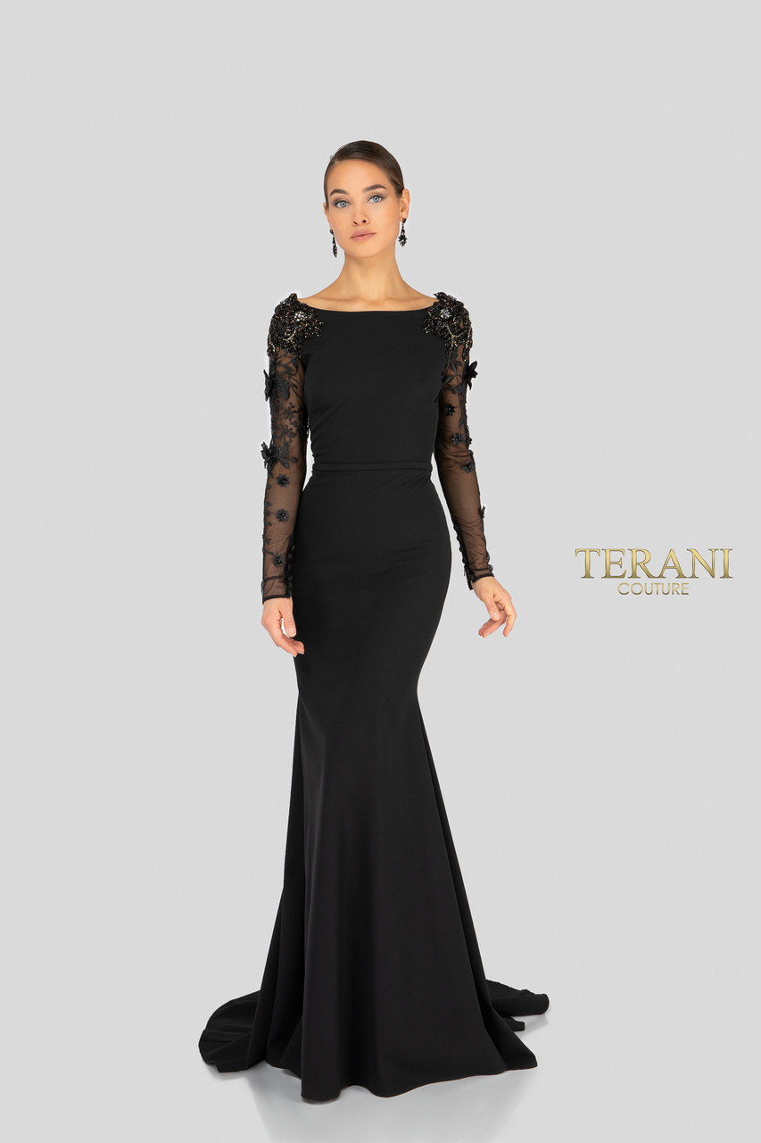5a64f25ddc5 Terani Couture Long Sleeve Beaded Ball Gown - Data Dynamic AG