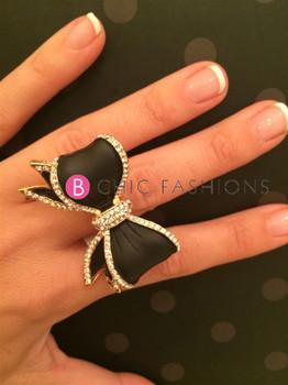 B Chic Fashions Bow Ring