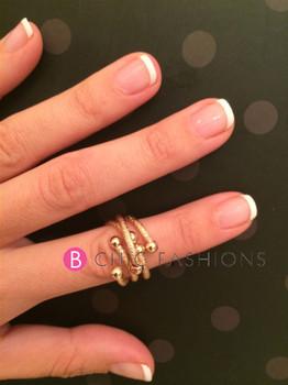 B Chic Fashions Triple Gold Ring
