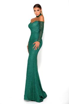 Portia & Scarlett Emerald Gown