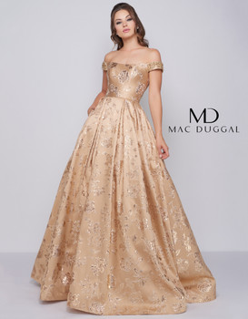 Mac Duggal 40893H - GOLDEN BLUE SOLD OUT
