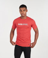 Outline TShirt - Earth Red
