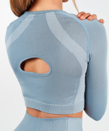 Motion Seamless Crop Top - Ether