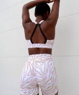 Allure Sports Bra - White Zebra