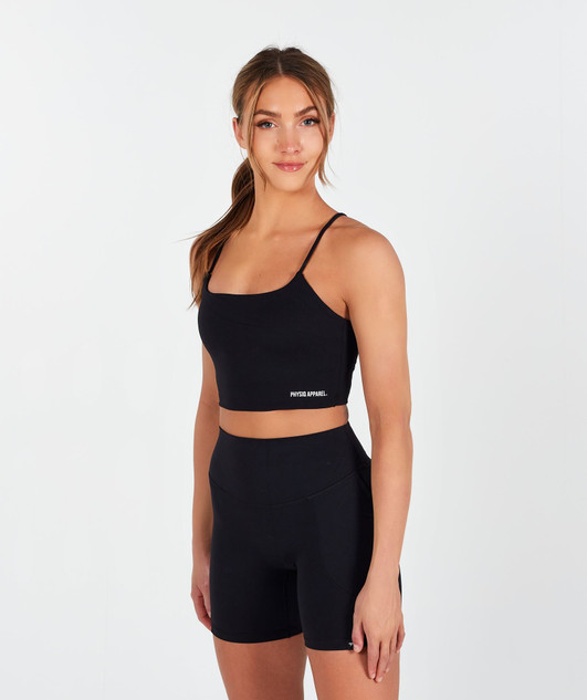 Lux Cami Crop Top - Black