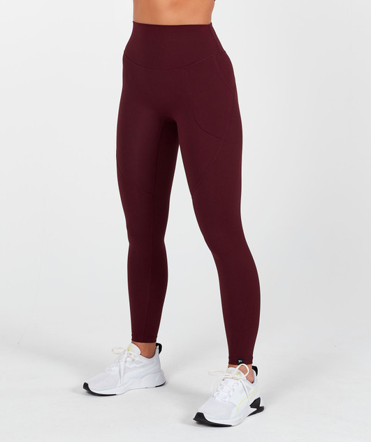 Lux High Waisted Leggings - Maroon