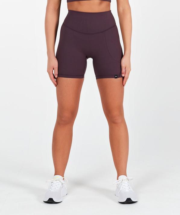 Lux High Waisted Shorts - Deep Mauve