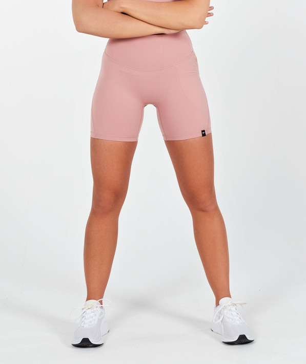 Lux High Waisted Shorts  - Dusty Rose