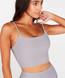 Lux Ribbed Cami Crop Top - Silver Grey