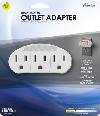 Outlet Adapter Neon Night Light, 6 Per Case, Price Per Each