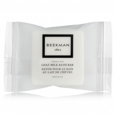 Beekman 1802 Fresh Air Goat Milk Amenity Kit, Case of 42, Shampoo, Conditioner, Shower Gel, Body Lotion, Face Soap And Body Soap
