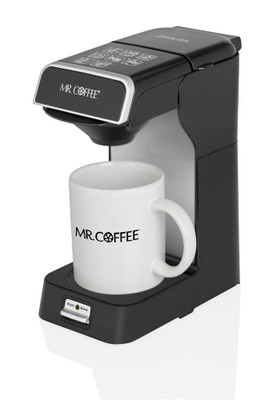 Mr. Coffee® Commercial 1-Cup Hotel Pod Coffeemaker, Black and Silver