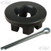 VWC-311-501-221-WP - (311501221) - BEST GERMAN MADE - 36MM SLOTTED REAR AXLE NUT WITH COTTER PIN (CNC / HARDENED / TEMPERED) - M24 X 1.5 - ALL BEETLE/GHIA/TYPE-3/THING / BUS 50-63 - SOLD EACH
