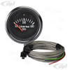 C10-310-901-T1 - 310901 - CIP1 EXCLUSIVE - BLACK FACE COCKPIT (VDO STYLE) CYLINDER HEAD 600F TEMP GAUGE KIT - 52MM 2-1/16 INCH - WITH 4.5MT (14.5 FOOT) WIRING HARNESS & 14MM SPARK PLUG THERMO COUPLER - BEETLE/GHIA/T3 - SOLD KIT