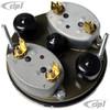 C34-IP2211-03 - REPRODUCTION 356 COMBO (DUAL) GAUGE - TEMPERATURE/FUEL - 100MM DIAMETER - SOLD EACH