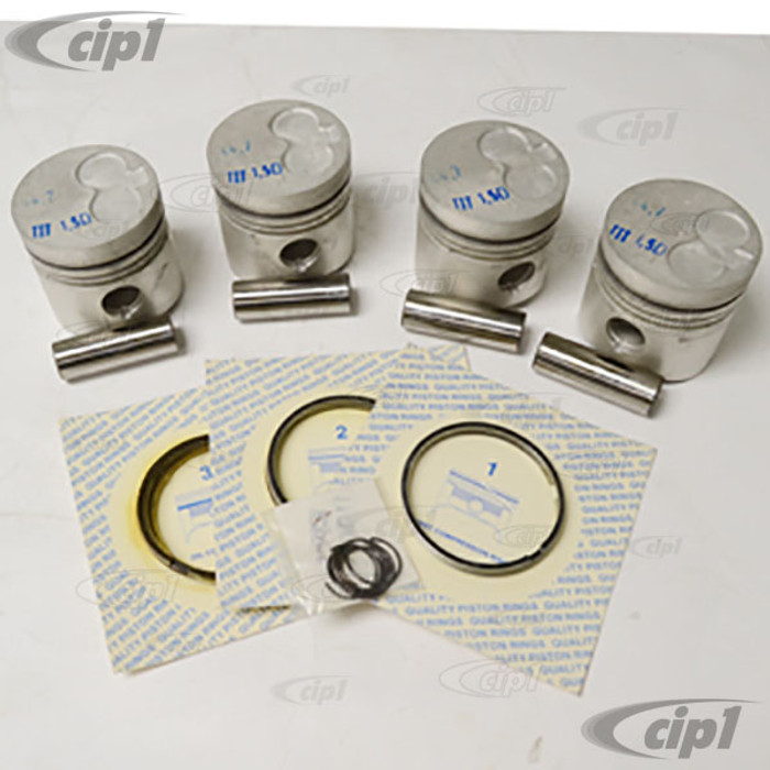 VWC-068-107-065-E – SET OF 4 PISTONS WITH RINGS - ALL 1.6L DIESEL MODELS 79-92 - SOLD SET OF 4