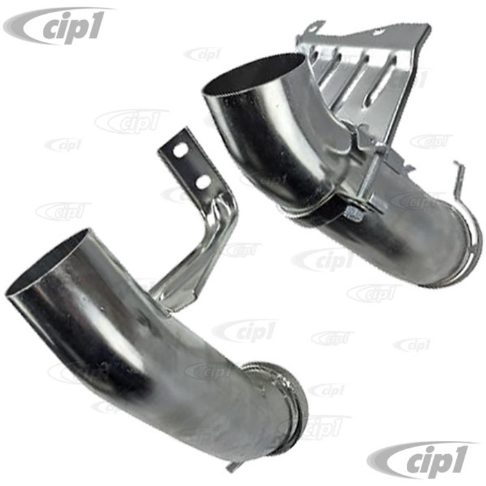 VWC-071-256-051-2PR - (071256051) EXCELLENT REPRODUCTION - PAIR OF HEAT BOX CONNECTING ELBOWS - LEFT AND RIGHT SIDE - BUS 72-79 - VANAGON 80-83 - SOLD PAIR
