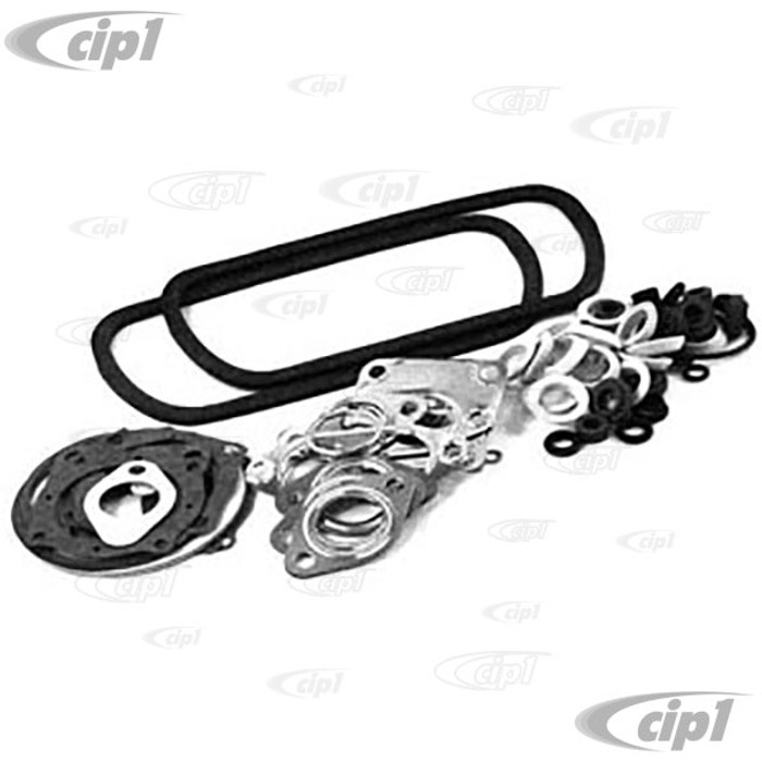 VWC-111-198-007-AF - (111198007A) ECONOMY QUALITY - COMPLETE ENGINE GASKET SET (W/OVERSIZED VALVE COVER GASKETS-MAY REQUIRE TRIMMING) - 13-1600CC AIRCOOLED ENGINES - SOLD EACH