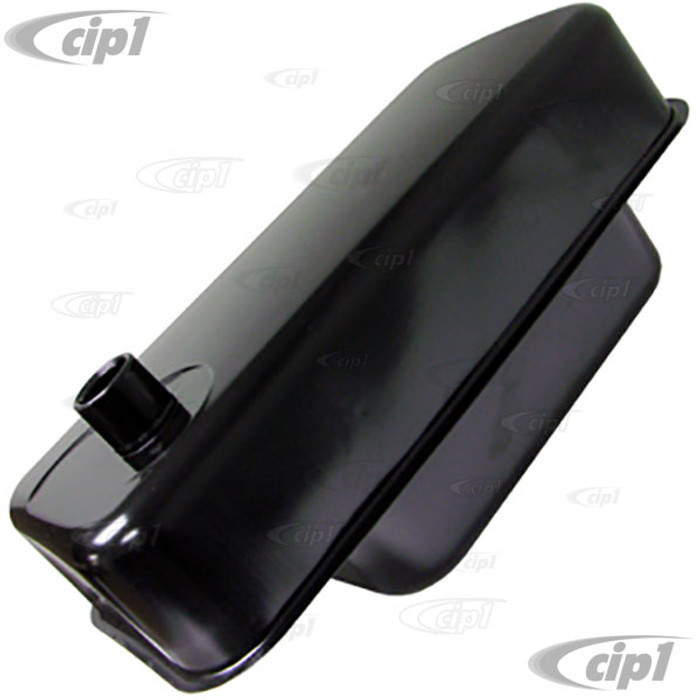 VWC-111-201-075-B - (111201075B) TOP QUALITY REPRODUCTION ZWITTER STYLE GAS/FUEL TANK WITH 60MM FILLER NECK (E-COATED BLACK) - CORRECT FOR BEETLE 52-53 (ALSO FITS UP TO 1960) - SOLD EACH