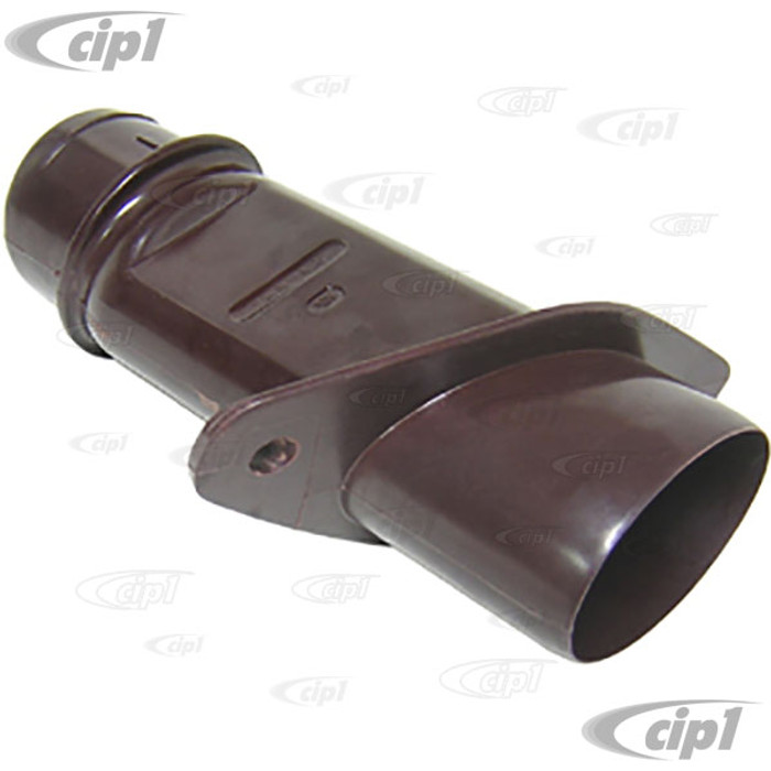 VWC-111-255-416-F - (111255416F) EXCELLENT QUALITY REPRODUCTION - BAKELITE HEATER AIR CONNECTOR TUBE - THRU BODY UNDER REAR SEAT - RIGHT SIDE - ALL 65-79 BEETLE/GHIA - SOLD EACH