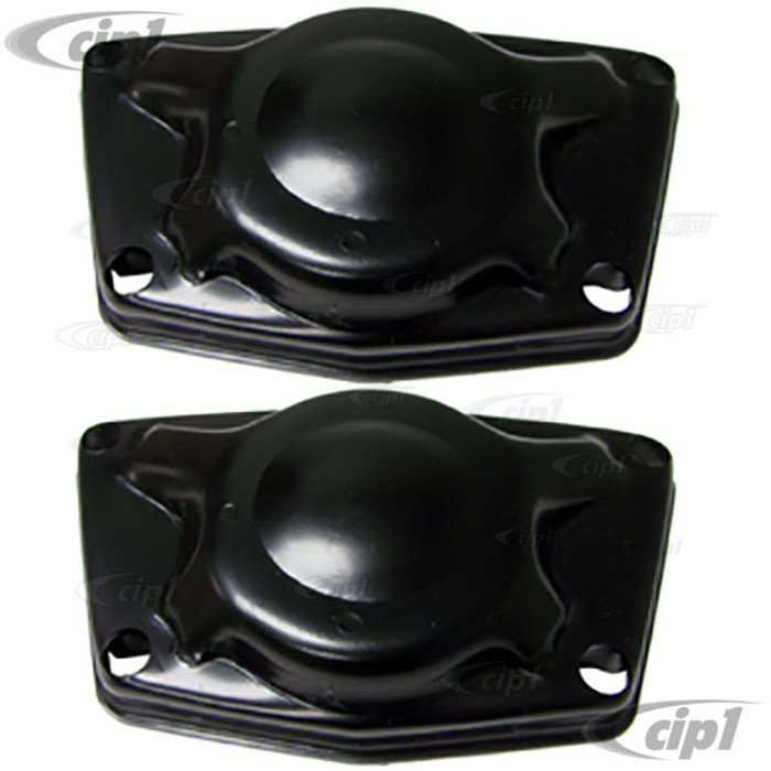 VWC-111-511-225-BPR - (111511225B) EXCELLENT QUALITY - PAIR OF REAR TORSION BAR COVERS - LEFT AND RIGHT - BEETLE 46-52 - SOLD PAIR