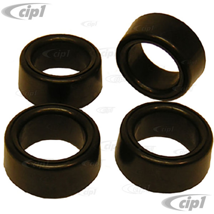 VWC-111-511-245-A - (111511245A) EXCELLENT QUALITY FROM ERUOPE - SET OF INNER/OUTER RUBBER SPRING PLATE TORSION BAR BUSHINGS - DOES ONE CAR - BEETLE/GHIA 46-59 - SOLD SET OF 4