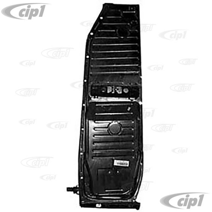 VWC-111-701-061-Q - IGP BRAND - GOOD QUALITY LEFT SIDE FLOOR PAN HALF - 1.1MM THICK 18 LBS - COMPLETE WITH PEDESTAL AND SEAT TRACKS WELDED - BEETLE 73-79 - (A40)