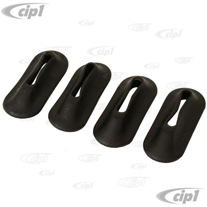 VWC-111-707-197-A4 - SET OF 4 - BUMPER BRACKET SEALS - FRONT AND REAR - BEETLE 46-67 / GHIA 56-71 - SOLD SET OF 4