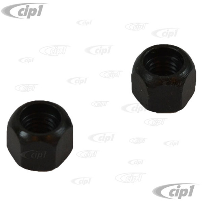 VWC-111-711-349-PR - (111711349) MADE IN GERMANY - PAIR OF EMERGENCY CABLE ADJUSTMENT NUTS - BEETLE 65-79 / GHIA 65-74 - SOLD PAIR