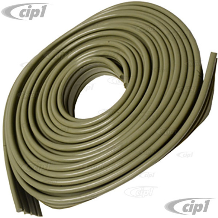 VWC-111-821-707-BLG - 1 ROLL OF LIGHT GREEN FENDER BEADING - WILL DO 4 FENDERS ON 1 CAR - BEST QUALITY - BEETLE 46-79 - SOLD ROLL