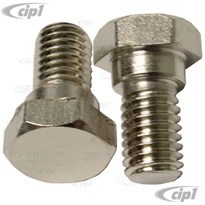 VWC-111-823-345-PR – PAIR OF FRONT HOOD STAY BOLTS (WITH 13MM HEAD) - BEETLE BOLTS 54-61 – ALSO HOOD HINGE PIVOT BOLTS FOR STD BEETLE 62-77 - SUPER BEETLE 71-72 – SOLD PAIR