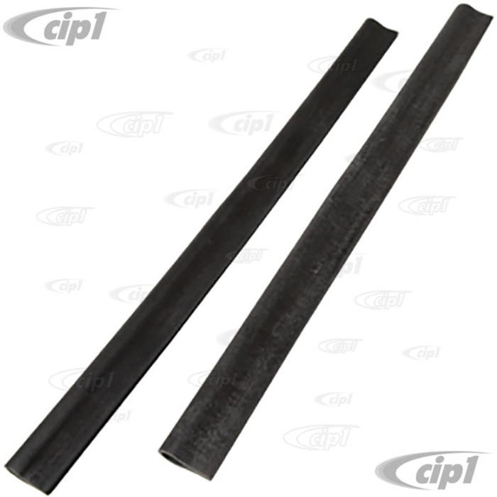 VWC-111-837-565-A2 - (111837565A) GERMAN - PAIR OF LIFT CHANNEL/SASH RUBBER INSERTS - BEETLE 52-77 NON CONVERTIBLE / BUS 68-79 / VANAGON 80-91 / TYPE-3 61-73 - SOLD PAIR