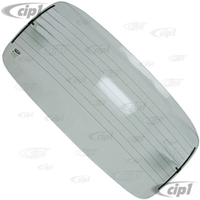 VWC-111-845-501-RC - (111845501N) CLEAR GLASS WINDOW - REAR STANDARD & SUPER BEETLE 72-78 (WITH HEATED DEFROSTER) - SOLD EACH