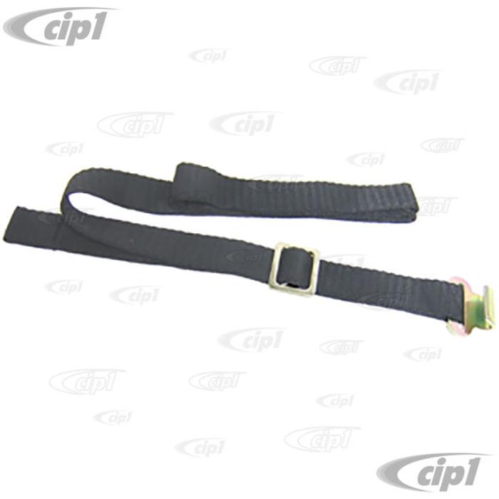 VWC-111-885-741-A - STRAP W/CLIP - TO TIE-DOWN REAR SEAT BACK - BLACK - BEETLE 68-79