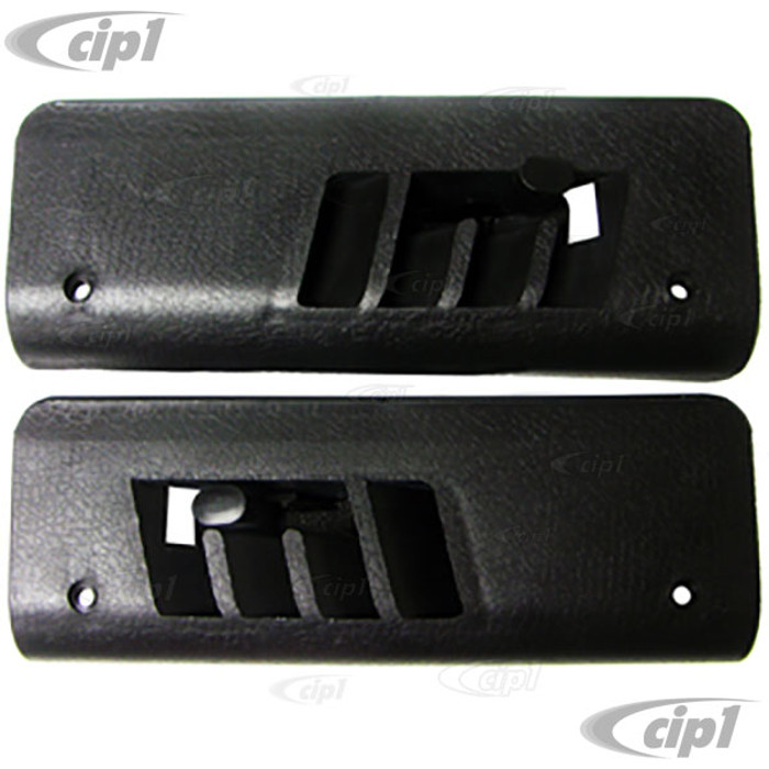 VWC-111-898-189-APR - PAIR OF FLOOR HEATER VENT COVERS WITH FLAP - LEFT AND RIGHT FRONT FOOT AREA - BEETLE 68-79 - SOLD PAIR
