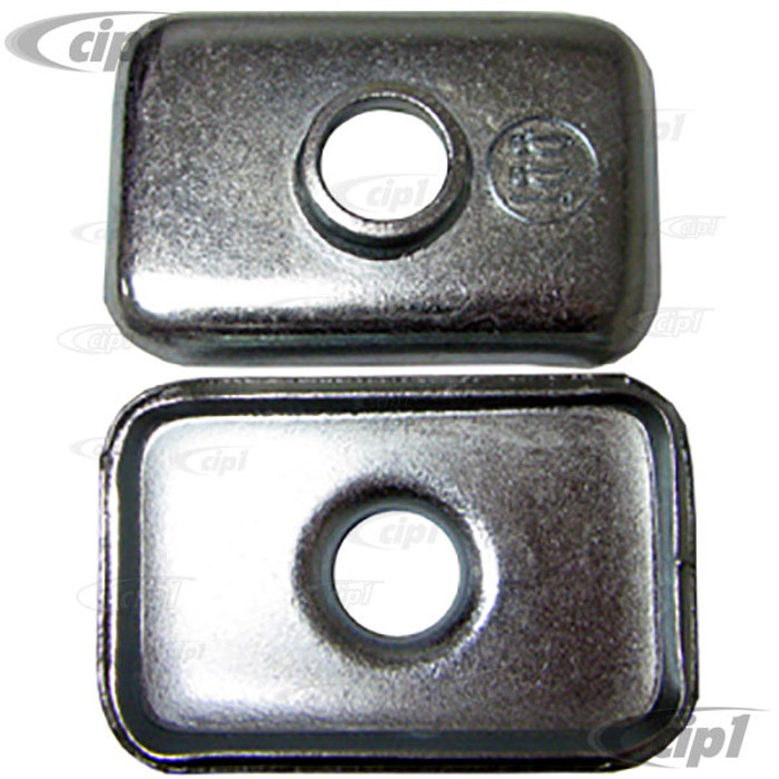 VWC-111-899-111-2 - PAIR OF FRONT AXLE BEAM SPACERS/RETAINER PLATES - UNDER GAS TANK TO MOUNT UPPER BEAM BOLTS TO BODY - BEETLE/GHIA - SOLD PAIR