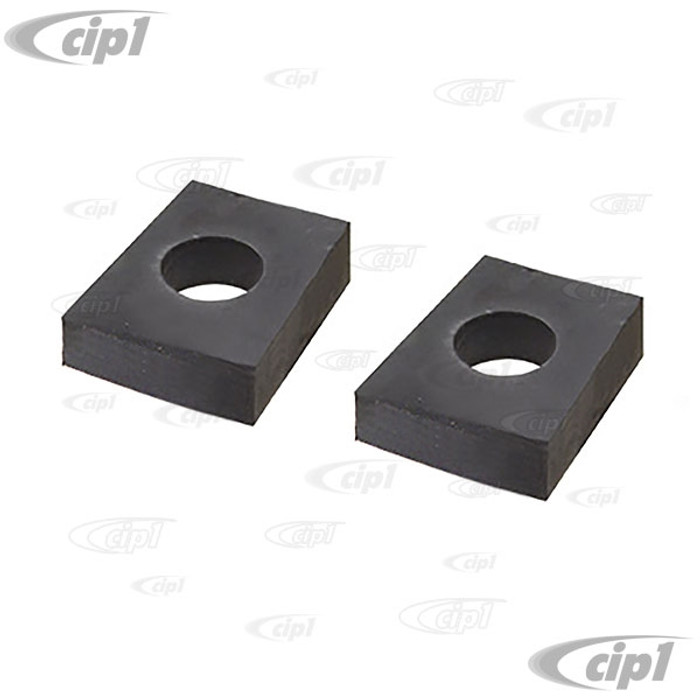 VWC-111-899-115-APR - (111899115A) - GERMAN - PAIR OF RUBBER PADS - 10MM VIBRATION DAMPING RUBBER PADS - 10MM BETWEEN TORSION HOUSING/FRAME OR FRONT BEAM TO BODY - BEETLE 46-79 / GHIA 56-74 / VW THING 69-74 - SOLD PAIR