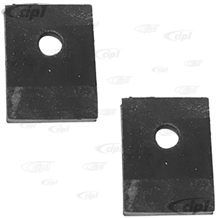 VWC-111-899-119-BPR - (111899119B) PAIR OF RUBBER PADS FOR REAR SHOCK TOWERS - BEETLE 46-79 - GHIA 56-74 - THING TO-74 - SOLD PAIR