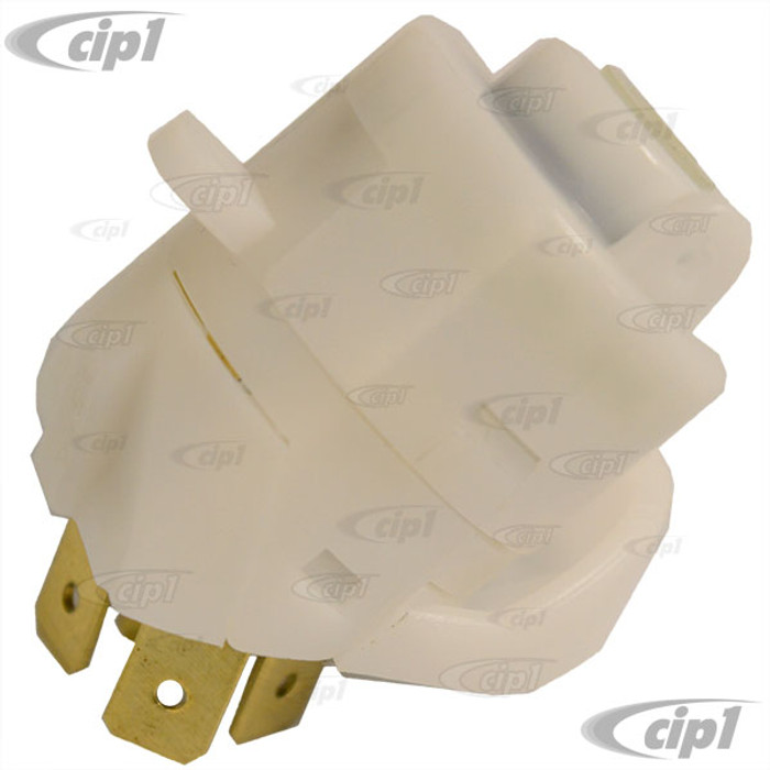 VWC-111-905-865-LGR - (111905865L) O.E. QUALITY - IGNITION SWITCH ELECTRICAL HALF ONLY - 4 PRONG - BEETLE 74-79 / GHIA 73-74 / BUS 74-79 / VANAGON 80-91 - PLUS MOST WATER-COOLED R/G/J 85-93 - SOLD EACH